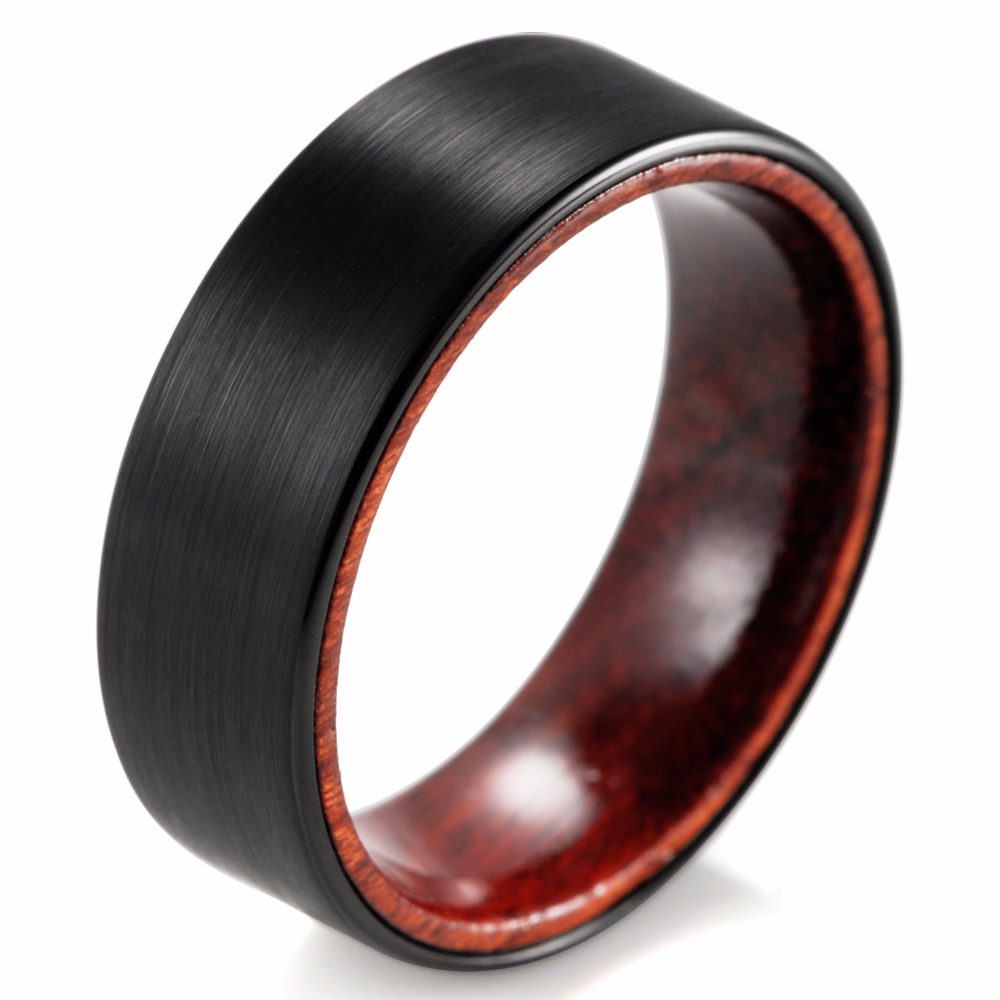 SHARDON 8mm Black Tungsten Inner Red wood Ring with Matte Finishing Mens  Wood Rings woodCompare Prices on Wooden Wedding Rings  Online Shopping Buy Low  . Mens Wedding Bands With Wood. Home Design Ideas