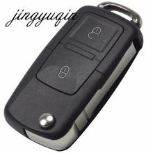 Jingyuqin 20 шт./лот складной автомобиль флип дистанционный ключ 2 Пуговицы Замена Дело Брелок В виде ракушки для VW MK4 SEAT Altea Альгамбра IBIZA