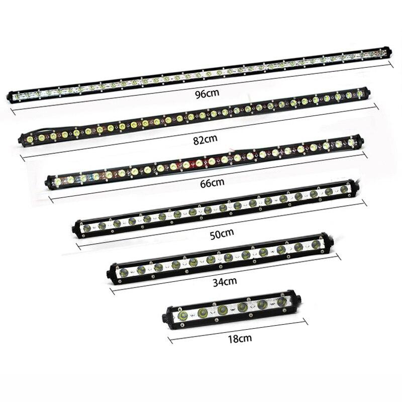 12v 24v Slim Led work light bar Car truck head light Roof ...