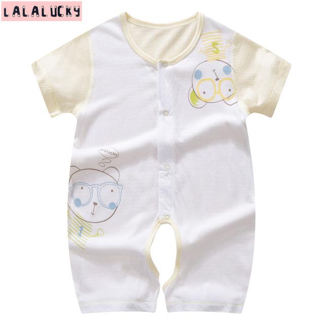 Mamelucos del bebé ropa de bebé recién nacido ropa cómoda para los bebés recién nacidos de 0-12 M ropa de bebé uno junta las piezas de corto mameluco