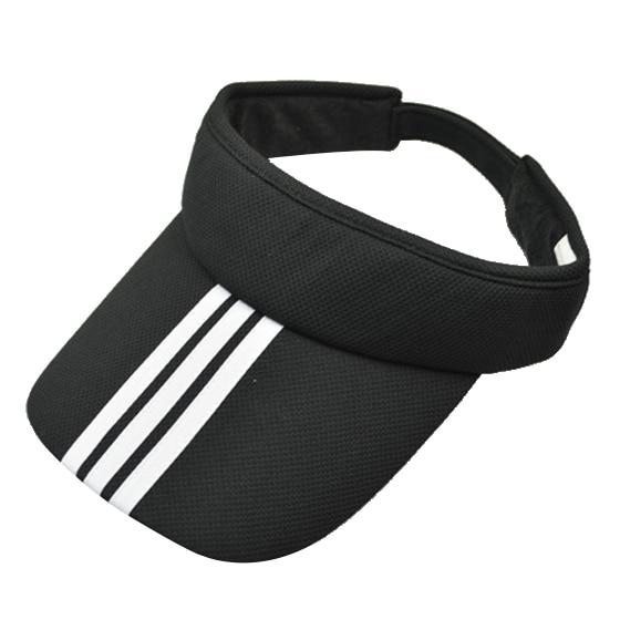 Sports Tennis Golf Sun Visor Hat Hats Adjustable Plain Bright Color Men Women Black