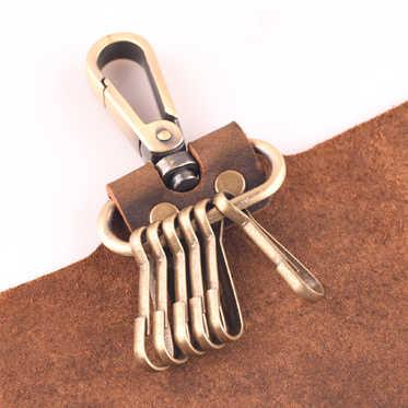 Retro Crazy Horse Couro Mens Carteira Chaves Manuais Designer Cintura Hanging Chaveiro Bolsa Saco Homem Chave Do Caso Chave Titular Organizador hot