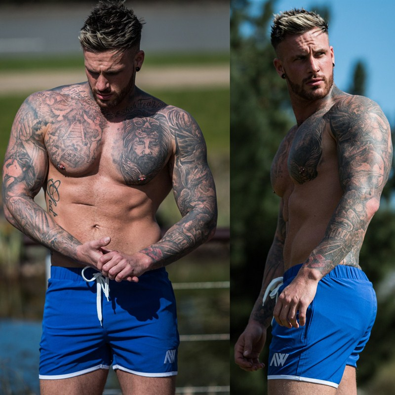 Mens Shorts Bodybuilding Jogger Gyms Fitness Workout Beach Casual Fashion Summer Brand