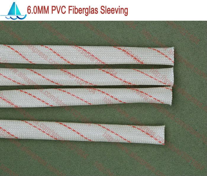 10meters/lot Diameter 6.0MM PVC Fiberglass Sleeving Insulation Sleeving