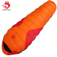 Jungle King Winter explosion ultra light adult outdoor 800g down sleeping bag thickening can be stitching camping 25 degrees