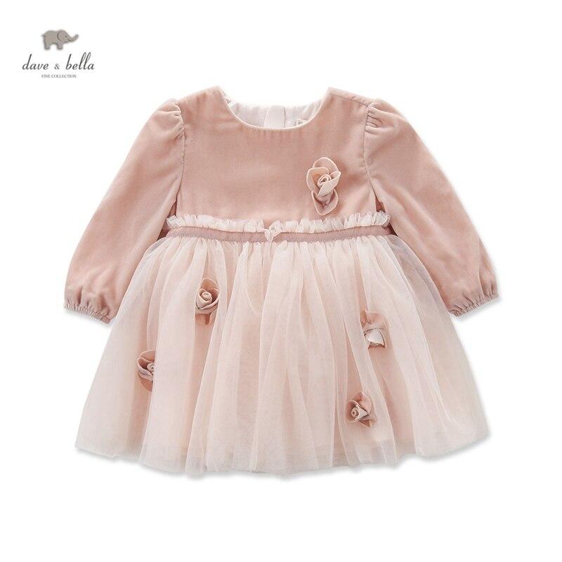 DB4102 Dave bella otoño niña princesa del vestido de boda del bebé ...