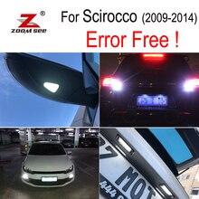 8 шт. светодиодный лампы номерных знаков + парковка + под зеркало + обратный огни для scirocco R 3R лампы внешний light kit (09-14)