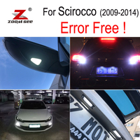 8pcs LED bulb License plate + Parking + Under mirror + Reverse lights for scirocco R 3R lamp external light kit (09 14)
