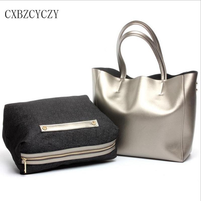 2017 Women Shoulder Bag Cow Genuine Leather Luxury Drand Designer Women Bag Handbag High Capacity High