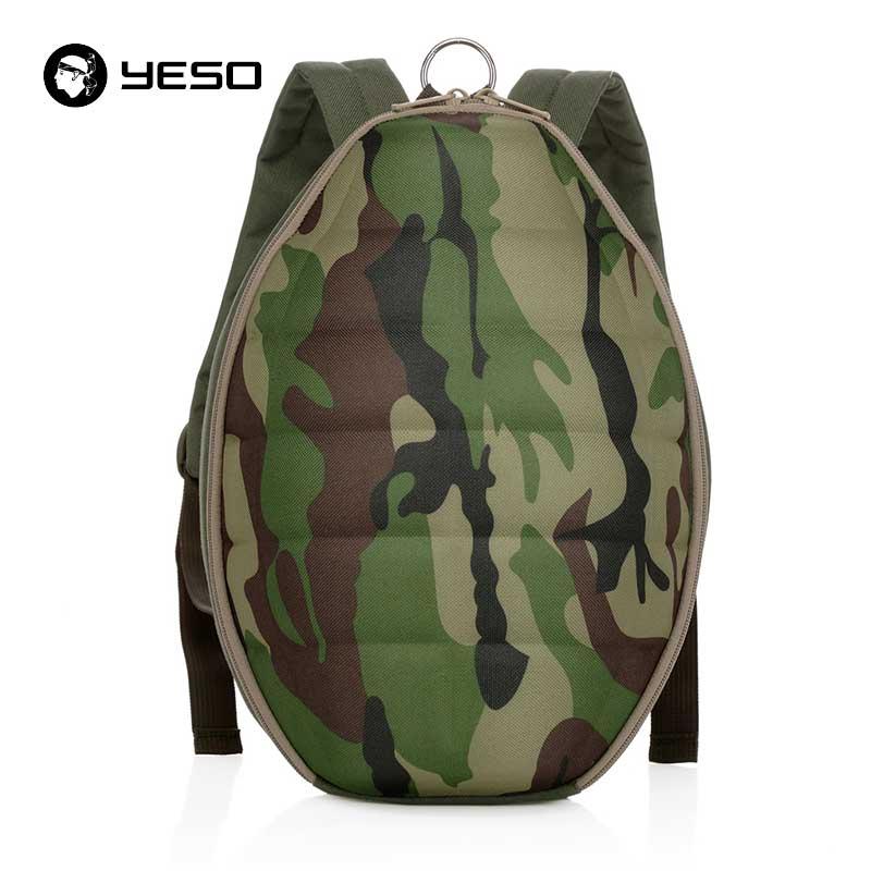 YESO Brands Camouflage Grenade Backpack For Teenager 2018 Fashion Multifunction Big Space Backpack Men Polyester School Backpack