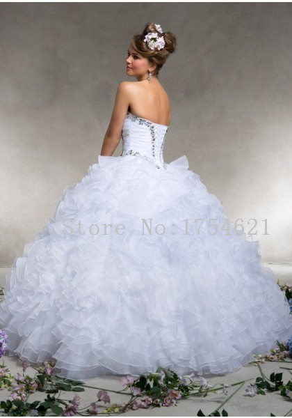 Aliexpress.com : Buy quinceanera dresses white puffy quinceanera ...