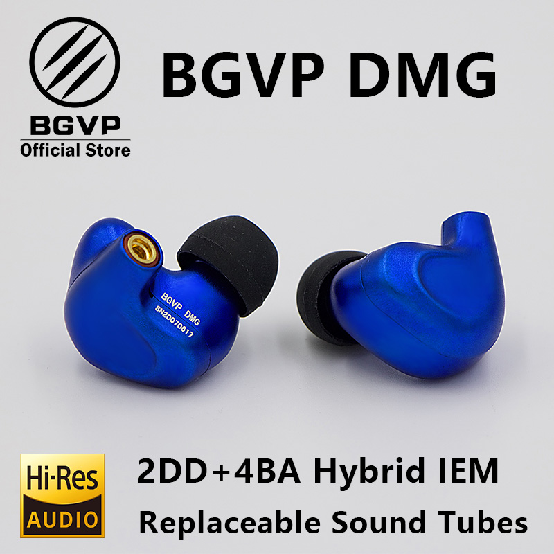 Image 2 - BGVP DMG HIFI Earphone 2DD+4BA Hybrid IEM Technology in ear types with MMCX replaceable cable design aluminium alloy shell-in Phone Earphones & Headphones from Consumer Electronics