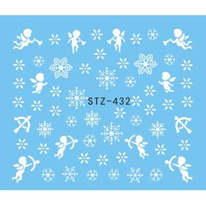 Image 4 - 1 גיליון מים נייל מדבקת חג המולד עיצוב זמני קעקועים איילים/שלג פרחים/ינשוף דפוס העברת יופי נייל אמנות TRSTZ429 439