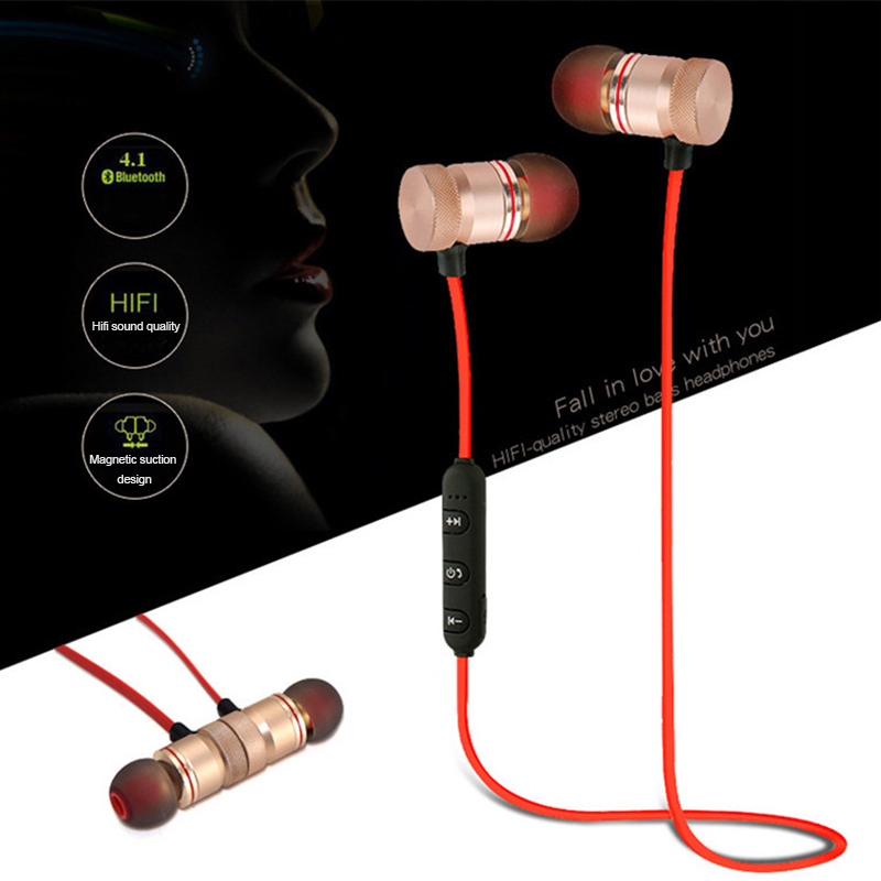 Stereo In-ear Earbuds Bluetooth Earphone For Xiaomi Iphone Samsung Magnetic Sport Running Wireless Earphones Bluetooth Headset s9 original sport wireless bluetooth headset handsfree earphones running stereo headphones for iphone xiaomi huawei 6 7 earphone