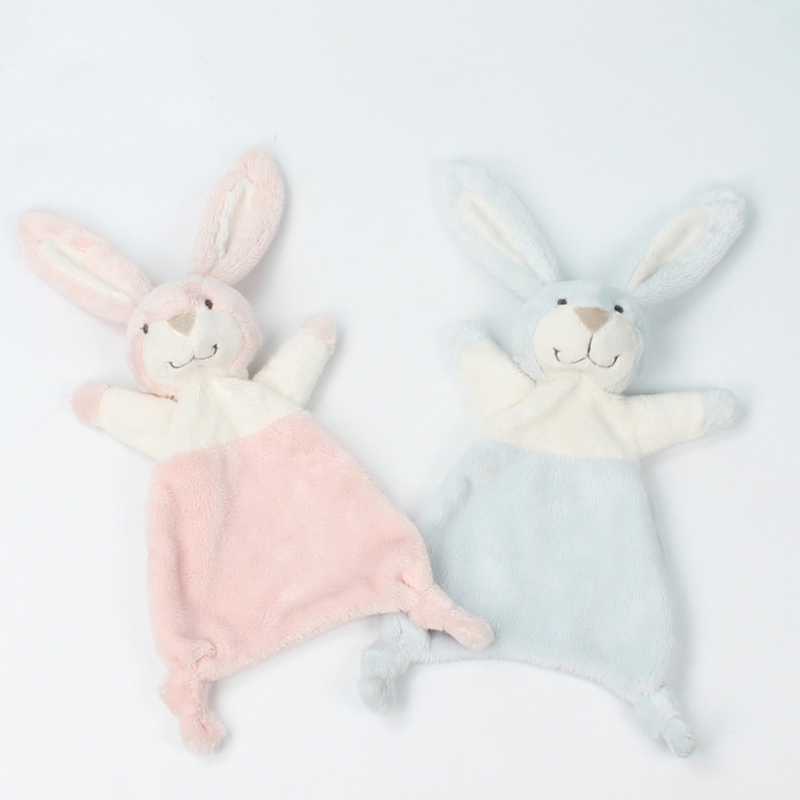 Baby Comforter Blanket Soothing Towel Newborn Security Blankets Soft Plush Bunny Rabbit Doll Baby Toys Handkerchief 0-12 Months