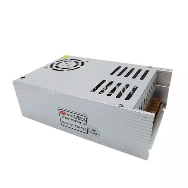 Single Output 600W 12V 50A Switching power supply Transformer AC110V/220V TO DC12V led switching power supply dc12v 50a 600w transformer input ac110 220v