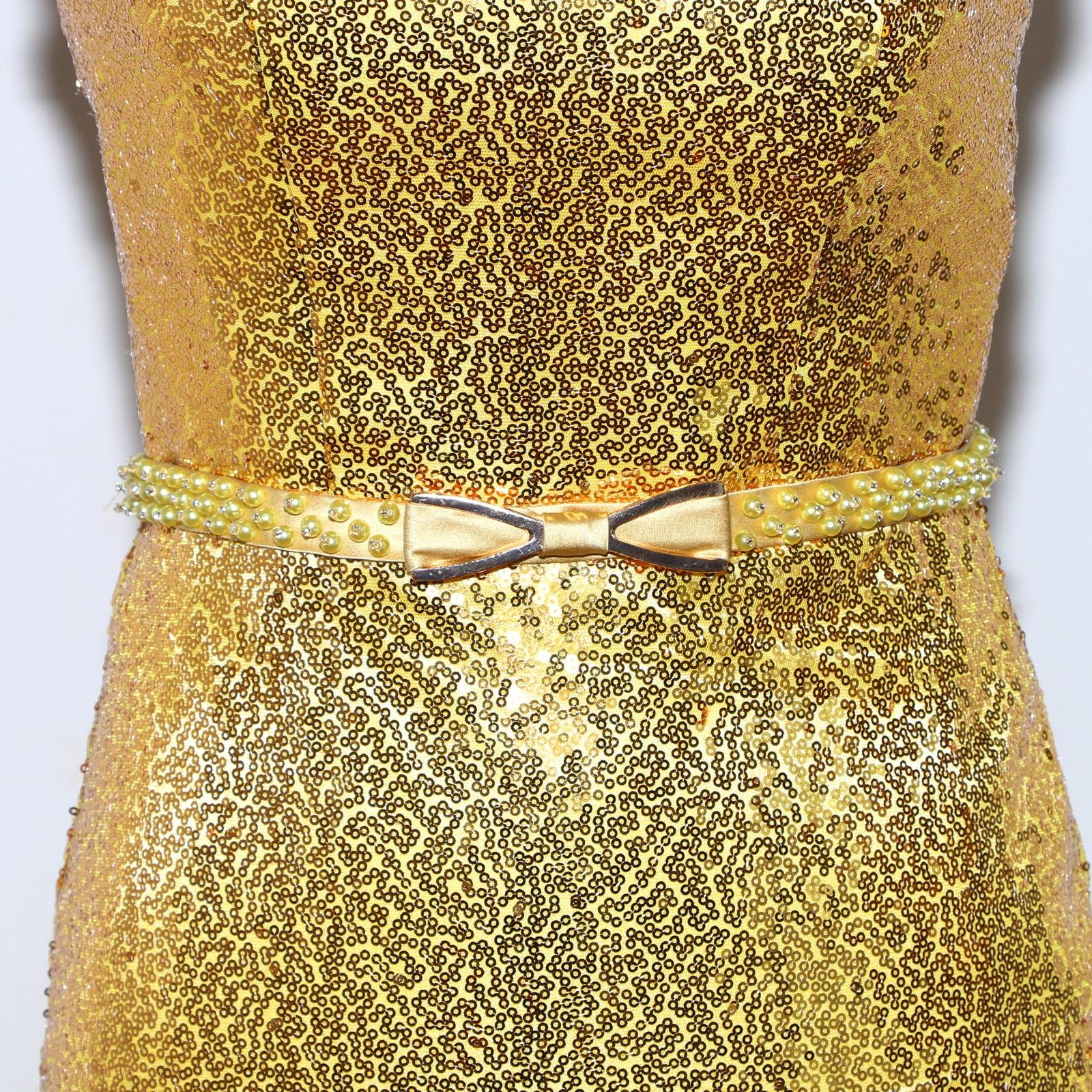 Lange Gold Pailletten Prom Kleid Sexy Meerjungfrau Abend Lange ...