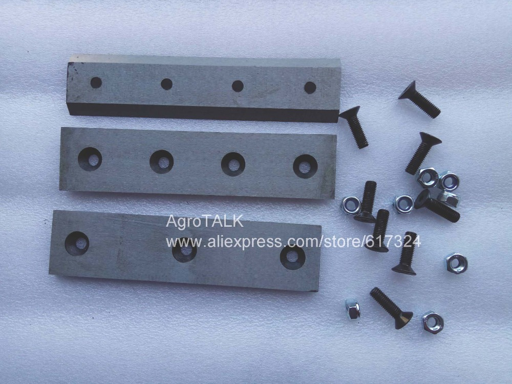 set of wood chipper blades with anvils, model: 24PMF.02.107 & 24 PMF.01.101 for model WC-6 & WC-8