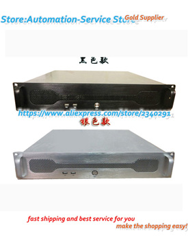 2U Industrial Industrial Server Rack Type Chassis ATX Motherboard PC Power Supply Aluminum Panel Positions Hard Disk