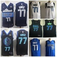 65278eb7b Free shipping dal A+++ quality Mens Adult  41 Dirk Nowitzki 77 Luka Doncic  Jersey Dallas