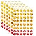Nuevo 48 Troquelado Emoji Sonríen Pegatina para el Ordenador Portátil para el cuaderno, mensaje * Alta Calidad de Vinilo * divertido * creativa