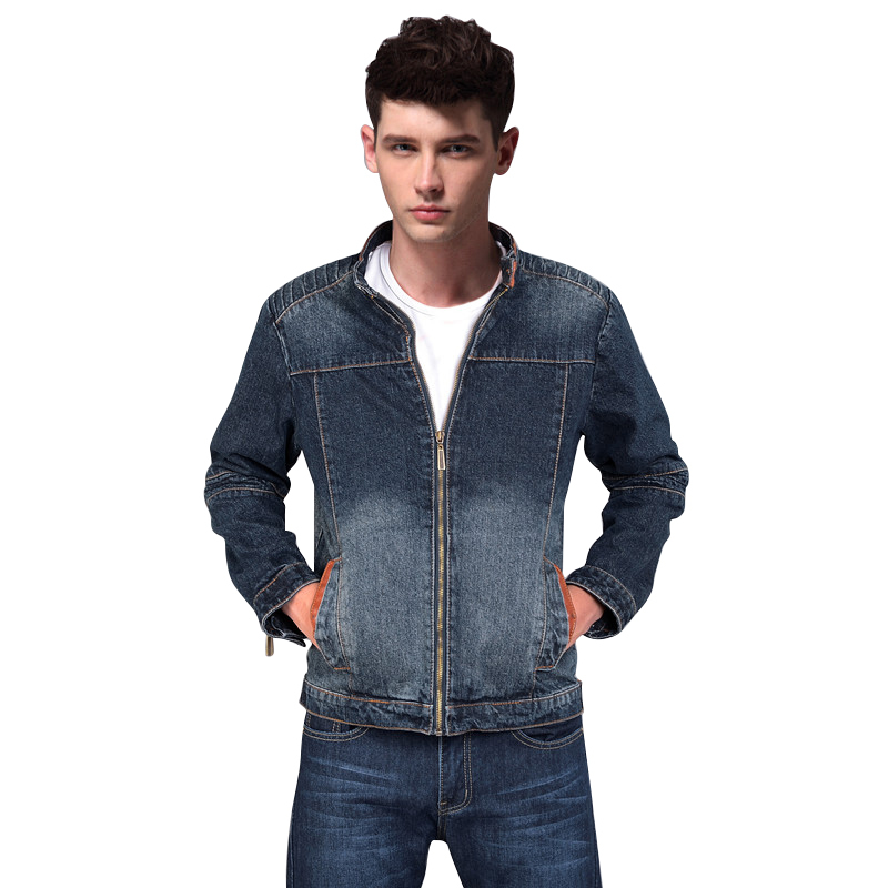Aliexpress.com : Buy 2015 New Design Denim Jacket Men Stand Collar ...