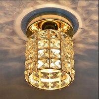 LED Ceiling Lights Luminaria teto Gold Crystal Ceiling Lamp For Entrance Stair Corridor Abajur Lamparas Plafonnier Home Lighting