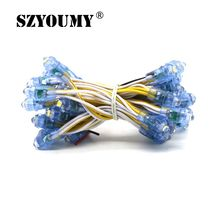 цена на WS1903 IC RGB Led Module String 9MM Waterproof DC5V LED Pixel Module Light White Yellow Blue Green Red Free shipping