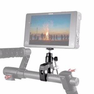Image 4 - Petit support à pince pour appareil photo DSLR avec adaptateur pour chaussures chaudes à tête sphérique pour Gopro, caméra, fixation pour moniteur 1124