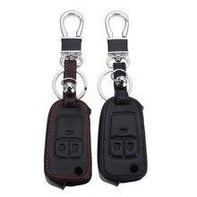 Из искусственной кожи Ключи случае ключ чехол Оболочки для Opel Astra Corsa Antara кожа черный/красный
