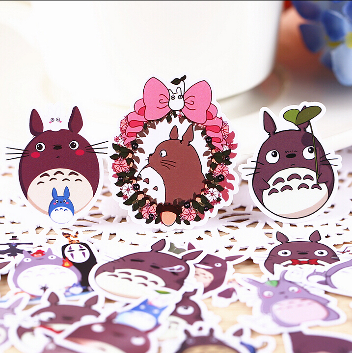 36pcs Creative Kawaii Self-made Neighbor Totoro / Castle Beautiful Stickers /decorative Sticker /DIY Craft Photo Albums