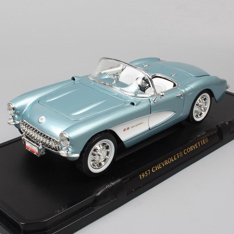 1 18 big Road signature classic car Chevrolet Corvette 1957 Chevy vette metal Diecasts Toy Vehicles
