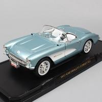 1/18 big Road signature classic car Chevrolet Corvette 1957 Chevy vette metal Diecasts & Toy Vehicles scale miniature cars model