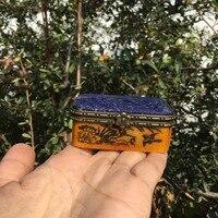 Natural lapis lazuli craft box crystal art Gift box for decorative