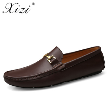 XIZI  Superstar Krasovki Shoes New Men Loafers Summer/Autumn Men's Flats Leather & Suede Casual Male Boat Shoes Man Peas Shoes