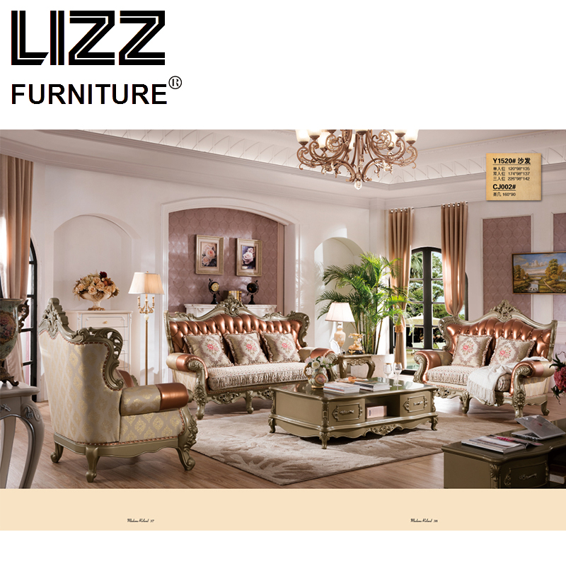 China Chesterfield Sofa Set Living Room Royal Furniture Antique Style Sofa Loveseat Armhair Luxury Furniture For Home Sofa
