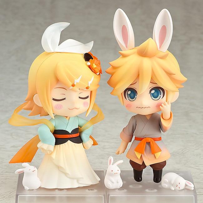 10cm Nendoroid Action Figure VOCALOID Hatsune Miku 768 Kagamine Rin 769 Ren Len Harvest Moon Ver PVC for children Toy