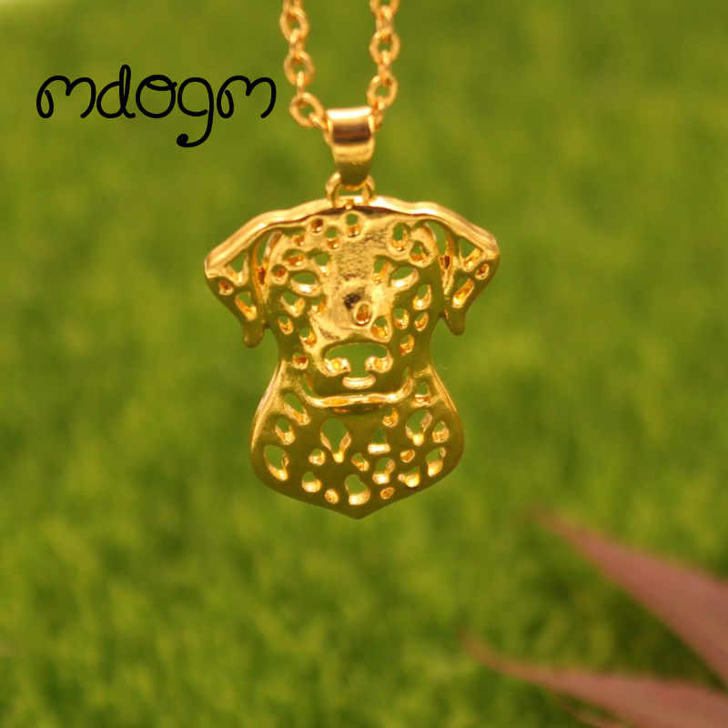 2018 Cute Dalmatian Necklace Dog Animal Pendant Gold Silver Plated Jewelry For Women Male Female Girls Ladies Kids Boys N077