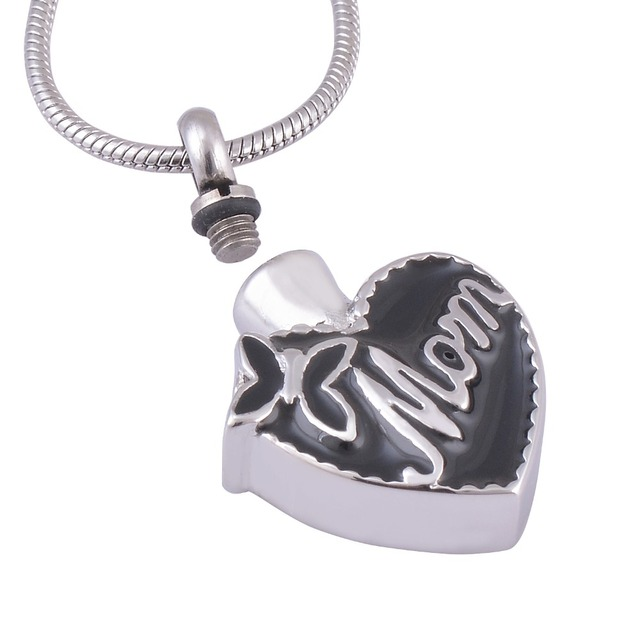 """Mom In Heart"" Memorial Pendant"