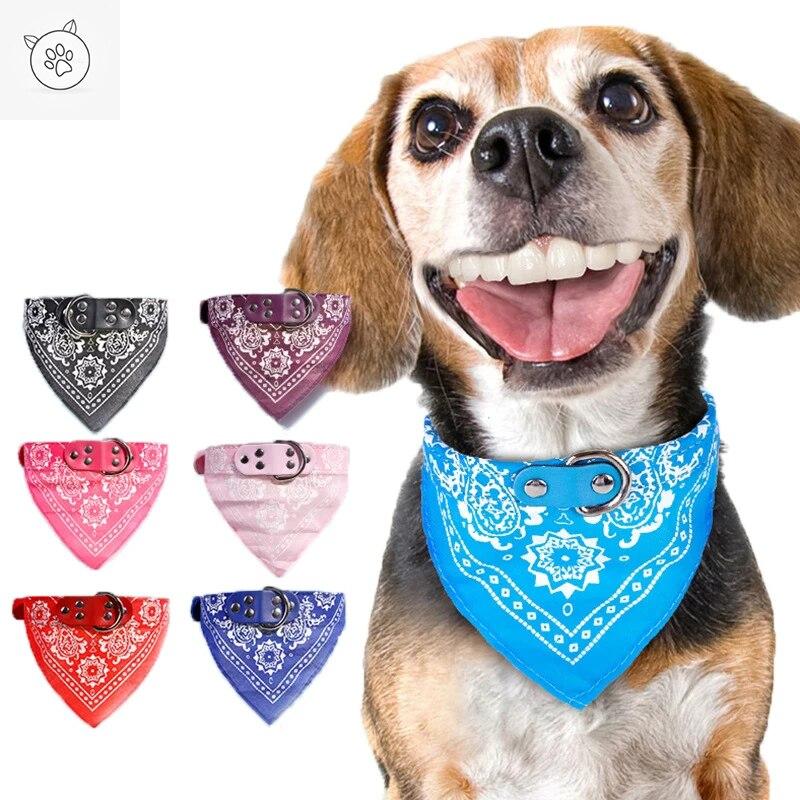 SUPREPET Leuke Verstelbare Kleine Halsbanden Puppy Pet Kwijl Handdoek Outdoor Kat Kraag Print Sjaal Ontwerp Halsband Halsdoek