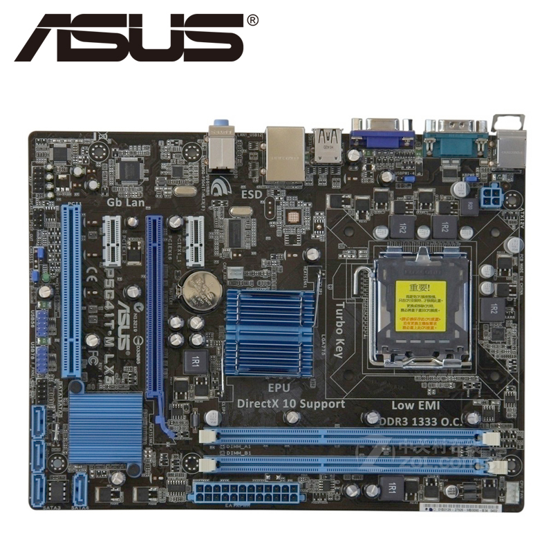 Asus P5G41T-M LX3 Desktop Motherboard G41 Socket LGA 775 Q8200 Q8300 DDR3 8G u ATX UEFI BIOS Original Used Mainboard On Sale asus m5a78l desktop motherboard 760g 780l socket am3 am3 ddr3 16g atx uefi bios original used mainboard on sale