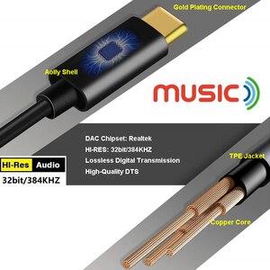 Image 3 - ประเภท C ถึง 3.5 มม. ชาย AUX สายเคเบิลเสียงดิจิตอล DAC 32 บิต/384 KHZ สำหรับหูฟังชุดหูฟังลำโพง Google 2/2XL/3/3 XL Mate 20
