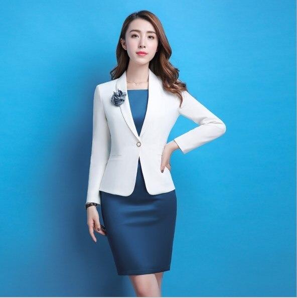 Aidenroy Ladies Work Dress Suit For Work Long Sleeve Blazer