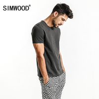 SIMWOOD 2017 Summer New T Shirts Men 100 Pure Cotton Vintage Patchwork Curl Sim Fit Casual