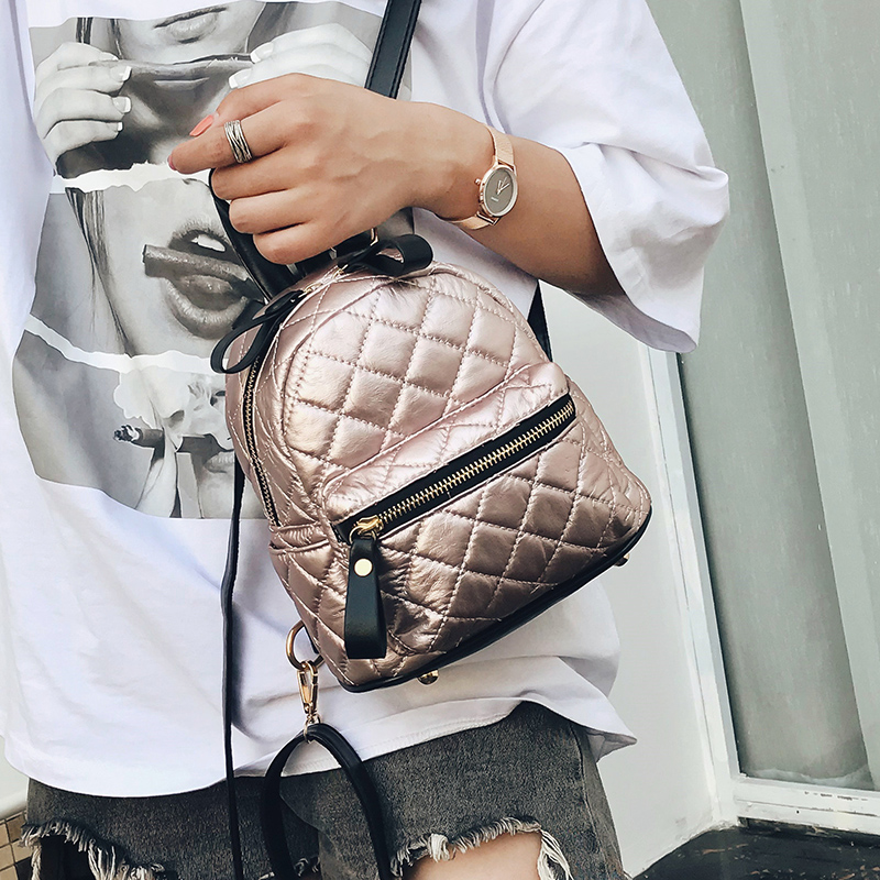 Detail Feedback Questions about Fashion Female PU Leather Backpacks Teenage Girls  Small School Bags Backpack Women High Quality Casual Rucksack Shoulder ... 90fa5e70e7a4