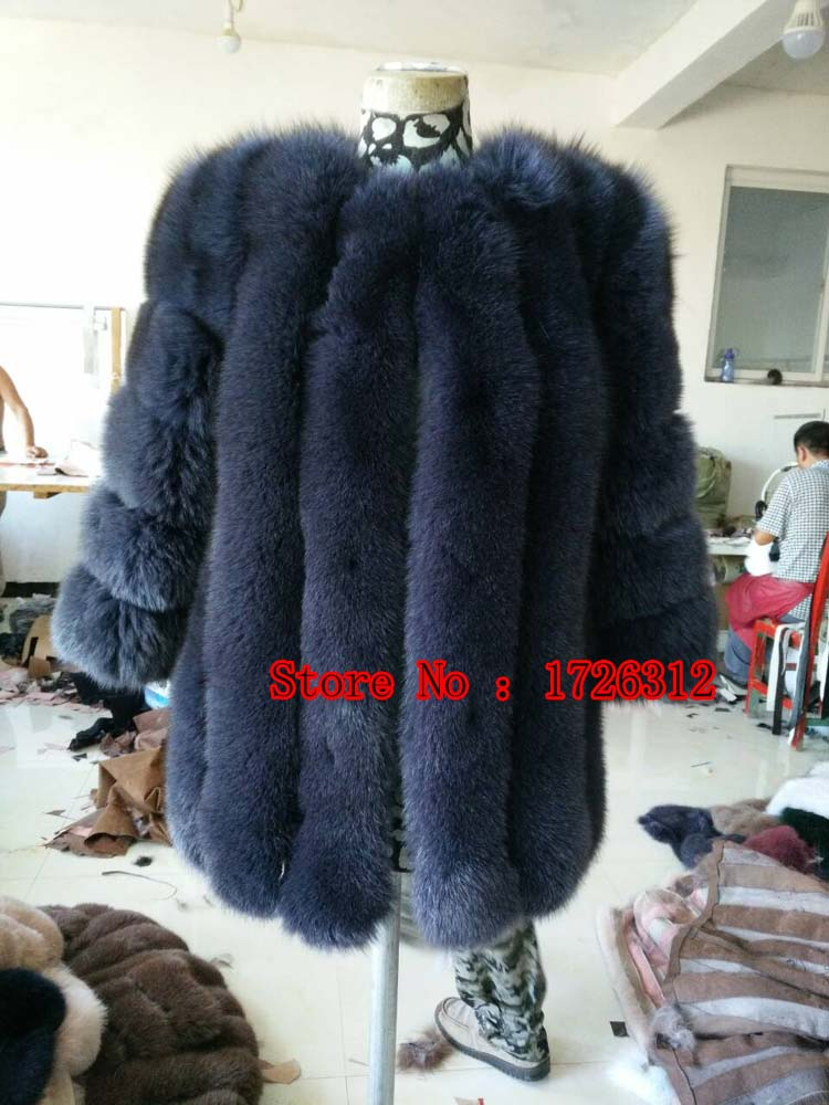 Whole skin fox fur fur coat and long sections 2016 new fur coat bars