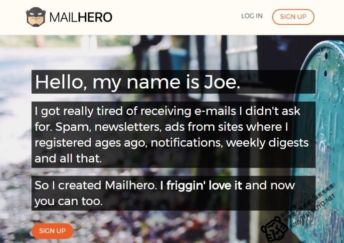mailhero.io支持转发到原邮箱,无限别名,垃圾邮件过滤