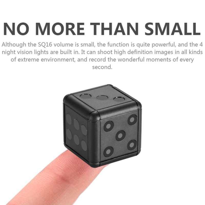 1080 P HD видео-видеокамера для наблюдения ночного видения Поддержка записи мини-карта флэш памяти TF камера SQ16 камера безопасности кости