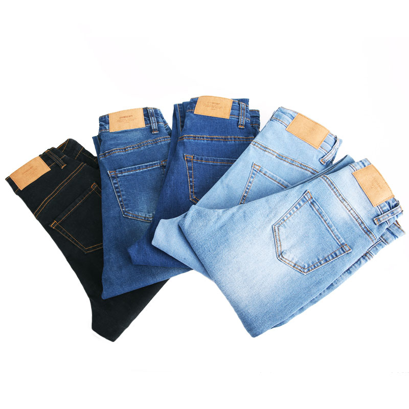 Jeans pour Femmes jean noir Taille Haute Jeans Femme Haute Élastique grande taille Jeans stretch femme lavé denim maigre pantalon moulant 4