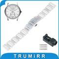 16mm 18mm 20mm venda de reloj de cerámica completa herramienta de venda de reloj de pulsera correa de pulsera del acoplamiento + mejorada de armani + pin de plata negro